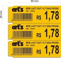 Etiquetas adesivas para impressora térmica