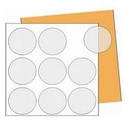 Etiquetas adesivas redondas para impressão