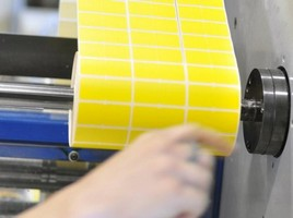 Impressão de etiquetas adesivas - Lote mínimo de 10.000 etiquetas